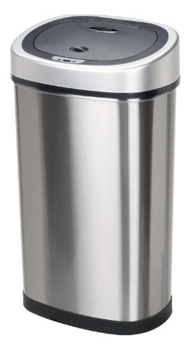 Nine-Stars-DZT-50-9-Infrared-Touchless-Stainless-Steel-Trash-Can-132-Gallon-0