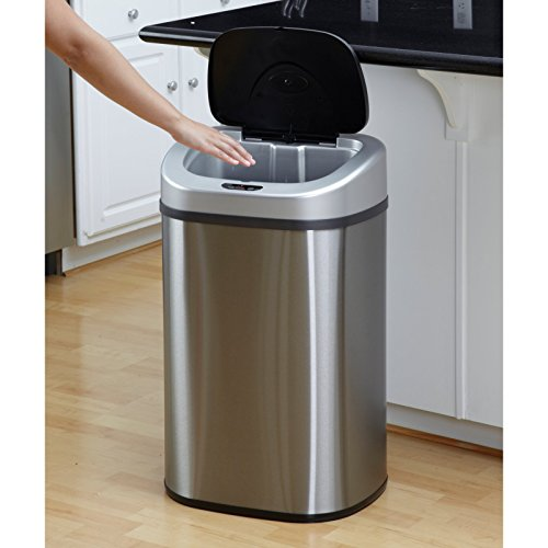 Nine-Stars-DZT-80-4-Touchless-Stainless-Steel-211-Gallon-Trash-Can-0-0