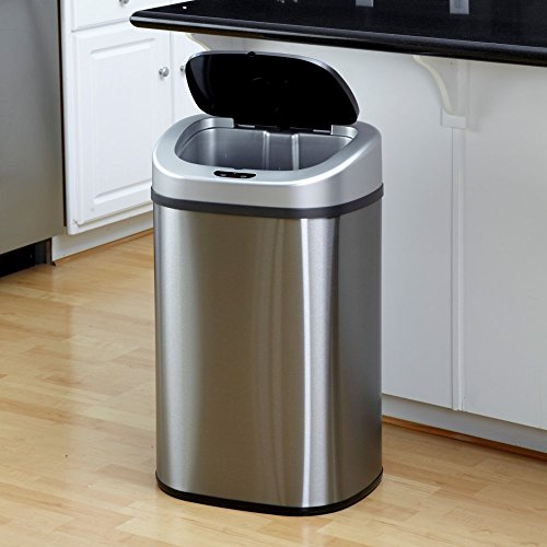 Nine-Stars-DZT-80-4-Touchless-Stainless-Steel-211-Gallon-Trash-Can-0