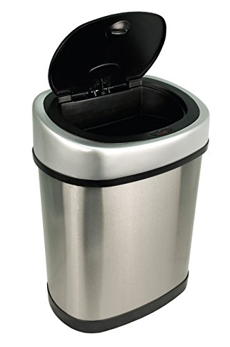 Nine-Stars-Motion-Sensor-Stainless-Steel-Trash-Can-32-gallon-0-0