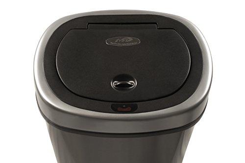 Nine-Stars-Motion-Sensor-Stainless-Steel-Trash-Can-32-gallon-0-1