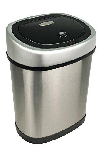 Nine-Stars-Motion-Sensor-Stainless-Steel-Trash-Can-32-gallon-0