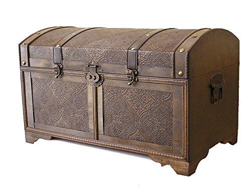 Nostalgic-Wood-Storage-Trunk-Wooden-Treasure-Chest-0-0