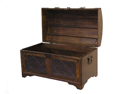 Nostalgic-Wood-Storage-Trunk-Wooden-Treasure-Chest-0-1