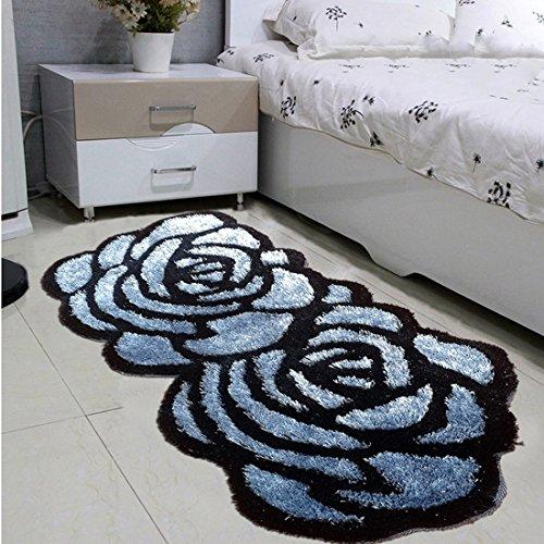 ONEONEY-Thick-Bedroom-Carpet-Mat-Rose-Carpet-Red-Roses-Doormat-Rose-Flowers-Bedroom-Carpet-0