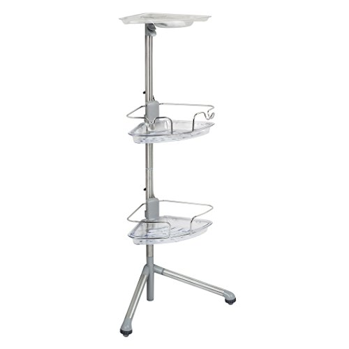 OXO-Good-Grips-Stainless-Steel-Corner-Standing-Shower-Caddy-0