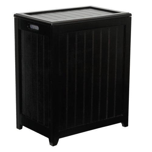 Oceanstar-RHP0109MH-Rectangular-Laundry-Wood-Hamper-Dark-Mahogany-Finished-0-0