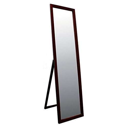 Ore-International-55-in-Stand-Mirror-Walnut-Finish-0