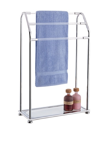 Organize-It-All-Acrylic-3-Bar-Towel-Rack-with-Bottom-Shelf-0