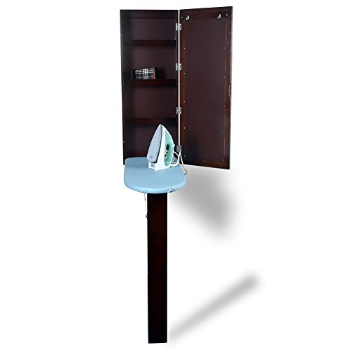 Organizedlife-Wall-Mount-Ironing-Board-Center-Cabinet-with-Mirror-and-Storage-Shelves-0