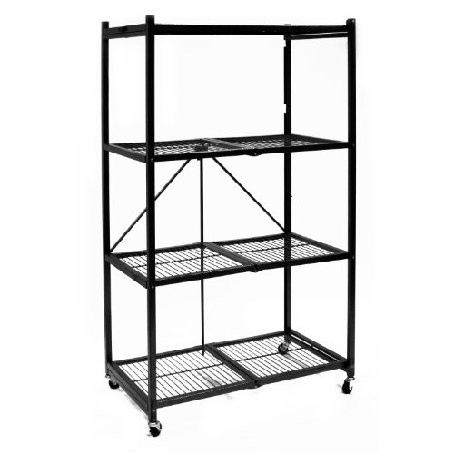 Origami-R5-01W-General-Purpose-4-Shelf-Steel-Collapsible-Storage-Rack-with-Wheels-Large-0