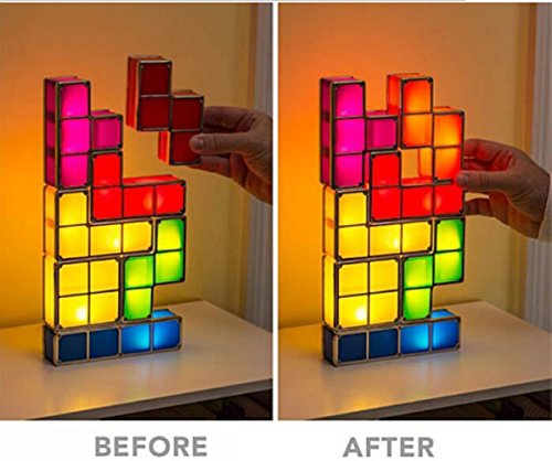 Original Tetris Led Games Light Constructible Desk Lamp