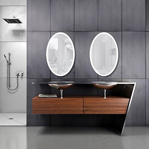 Oval-LED-Bathroom-Mirror-20-Inch-x-30-Inch-Lighted-Vanity-Mirror-Includes-Dimmer-Defogger-Wall-Mount-Vertical-or-Horizontal-Installation-0-1