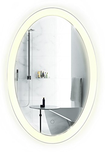 Oval-LED-Bathroom-Mirror-20-Inch-x-30-Inch-Lighted-Vanity-Mirror-Includes-Dimmer-Defogger-Wall-Mount-Vertical-or-Horizontal-Installation-0