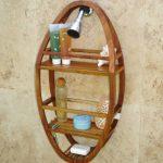 Patented-Moa-Oval-Teak-Shower-Organizer-0-0