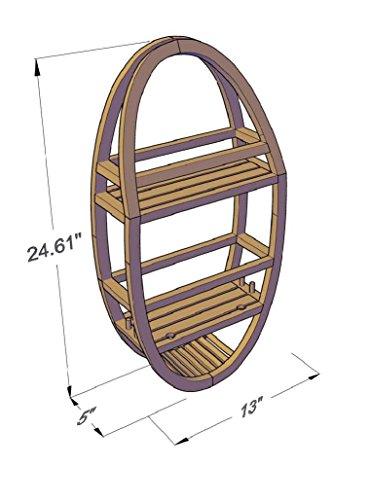 Patented-Moa-Oval-Teak-Shower-Organizer-0-1