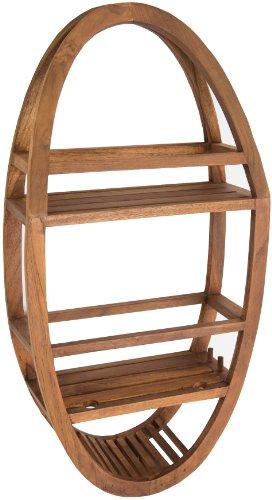 Patented-Moa-Oval-Teak-Shower-Organizer-0