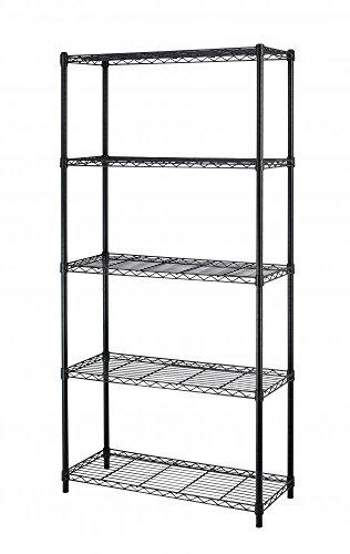 Paylesshere-5-Shelf-Steel-Wire-Tier-Layer-Shelving-72x36x14-Storage-Rack-0