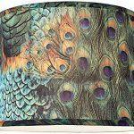 Peacock-Print-Drum-Lamp-Shade-14x16x11-Spider-0-0