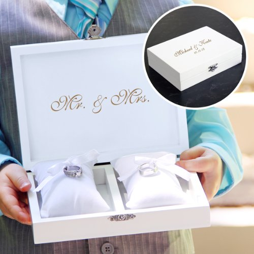 Personalized-Mr-Mrs-Ring-Bearer-Pillow-Keepsake-Box-with-Jewelry-Inserts-and-Mini-Love-Favor-Frame-0