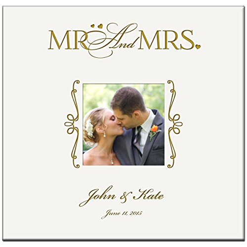 Personalized-Wedding-or-Anniversary-Photo-Album-Mr-Mrs-Holds-200-4×6-Photo-0