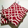 Pillow-Perfect-IndoorOutdoor-New-Geo-Squared-Seat-Cushion-Red-Set-of-2-0