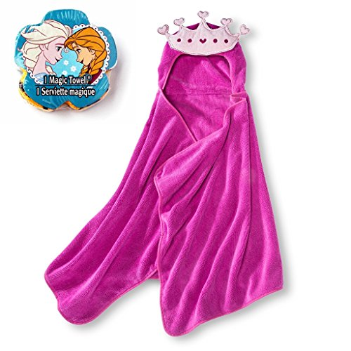 Pink-Princess-Hooded-Bath-Towel-Disney-Frozen-Elsa-and-Anna-Magic-Grow-Towel-2-Pc-Set-0