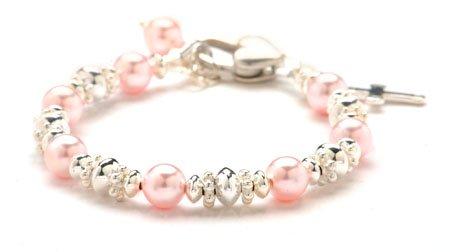 Pink-Sterling-Silver-Christening-Baby-Bracelet-0