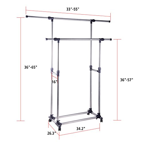 Pinty-Heavy-Duty-Portable-Clothes-Rack-Double-Rail-Clothing-Garment-Rack-0-1