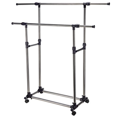 Pinty-Heavy-Duty-Portable-Clothes-Rack-Double-Rail-Clothing-Garment-Rack-0