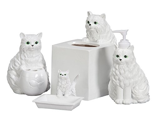 Playful Cat Bathroom Accessories Set Of 4 Local Home Store