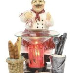 Poly-Resin-CHEF-Figurine-Electric-Oil-Warmer-or-Tart-Burner-with-Free-Pack-Tart-Melts-and-Free-Replacement-Bulb-0