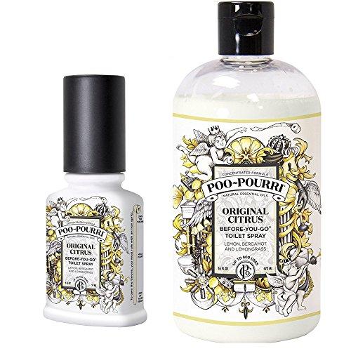 Poo-Pourri-Before-You-Go-Toilet-Spray-2-Ounce-Bottle-Original-Scent-Poo-Pourri-Before-You-Go-Toilet-Spray-16-Ounce-Refill-Bottle-Original-0