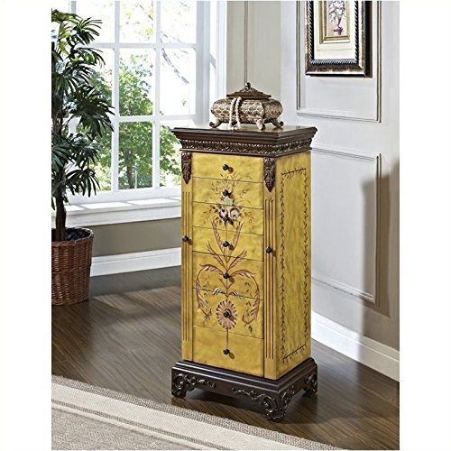 Powell-Masterpiece-Handpainted-Wood-Jewelry-Armoire-Antiqued-Parchment-0