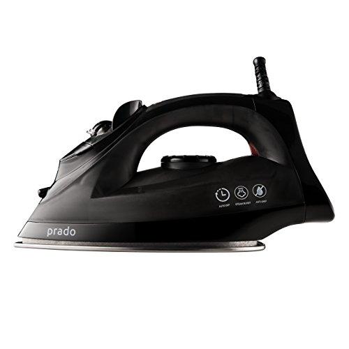 Prado-X3-Professional-Micro-Steam-Iron-Stainless-Steel-Soleplate-with-Auto-Shut-Off-Steam-Burst-Clothing-Iron-2Y-Warranty-Black-0-0