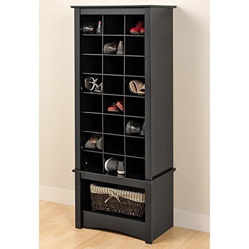 Prepac-Black-Tall-Shoe-Cubbie-Cabinet-0