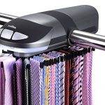 Primode-Motorized-Tie-Rack-With-LED-Lights-Closet-Organizer-Stores-Displays-Up-To-50-Ties-Or-Belts-Rotation-operates-with-batteries-Great-Gift-Idea-0