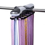 Primode-Motorized-Tie-Rack-With-LED-Lights-Closet-Organizer-Stores-Displays-Up-To-72-Ties-With-8-Belts-Rotation-operates-with-batteries-Great-Gift-Idea-0-0