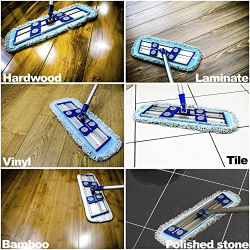Professional-Microfiber-mop-for-hardwood-tile-laminate-stone-floors-DREDGE-Best-all-in-1-kit-Dry-wet-cleaning-3-advanced-drag-resistant-padsrevolutionize-your-mopping-experience-0-0