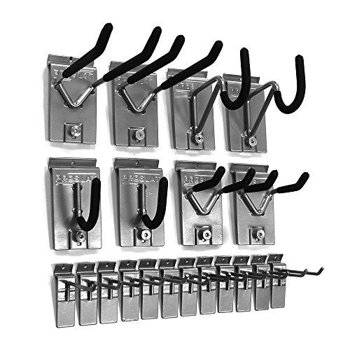 Proslat-11004-18-Inch-Backplates-Steel-Hook-Kit-Designed-for-PVC-Slatwall-20-Piece-0