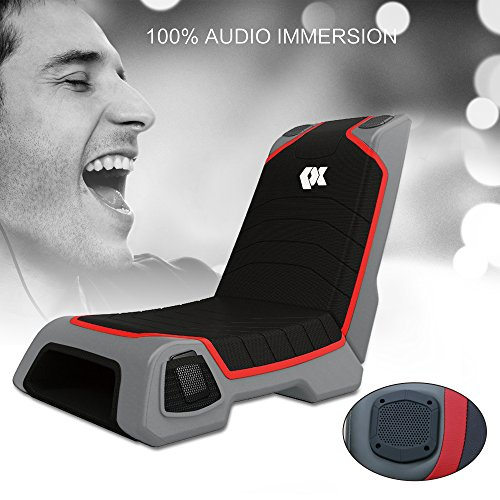 Proxelle-Video-Game-Chair-Dual-3W-Speakers-PS4PS3PS2-Xbox-OneXbox-360Nintendo-Wii-Connect-through-TV-DVD-iPod-iPhone-Android-and-MP3-0-0