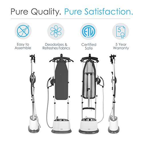 PureSteam-Duo-Iron-Pressurized-Garment-Steamer-Heavy-Duty-1600-Watt-Power-with-1-Liter-Water-Tank-Built-In-Ironing-Board-and-Deluxe-Garment-Hanger-with-Clips-0-0