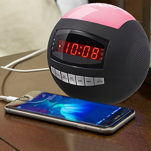 Raynic-Dual-Alarm-Clock-RadioWireless-Bluetooth-Speaker-w-USB-Charging-Port-Multi-Color-LED-Night-Light-Snooze-Hands-Free-CallingAll-In-One-FM-Radio-Clock-Batteries-Included-0-1