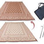 Redwood-Mats-Patio-Mat-9-X-12-Beige-Reversible-Outdoor-Rug-Camping-Rv-Mat-Indoor-With-Ground-Stakes-Carry-Bag-0