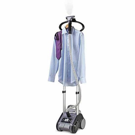 Refurbished-Rowenta-Precision-Valet-Commercial-Full-Size-Garment-Steamer-with-Retractable-Cord-and-Variable-Steam-GreyPurple-0-1