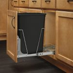 Rev-A-Shelf-RV-12KD-18C-S-Single-35-Qt-Pull-Out-Black-and-Chrome-Waste-Container-with-Rear-Basket-0-0