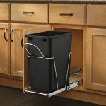 Rev-A-Shelf-RV-12KD-18C-S-Single-35-Qt-Pull-Out-Black-and-Chrome-Waste-Container-with-Rear-Basket-0