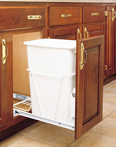 Rev-A-Shelf-RV-12PB-S-Single-35-Qt-Pull-Out-White-Waste-Container-with-Full-Extension-Slides-0
