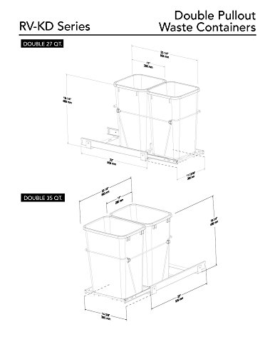 Rev-a-Shelf-RV-15KD-18CS-Double-27-Qt-Pullout-Waste-Container-0-0