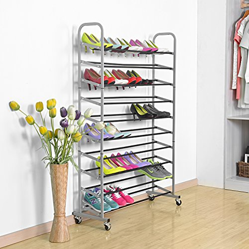 Rolling-Shoe-Rack-MaidMAX-10-Tiers-Free-Standing-50-Pairs-Shoe-Tower-Storage-Organizer-with-Sturdy-Rolling-Wheels-for-Christmas-Gift-0-1